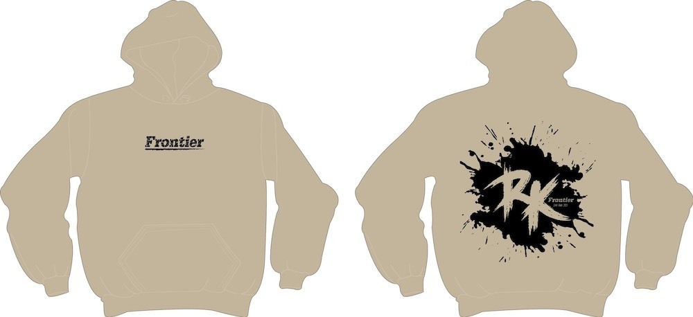 Frontier プルオーバーパーカー(ブラック/ベージュ)